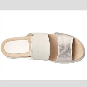 Naya white and silver slip on shoes